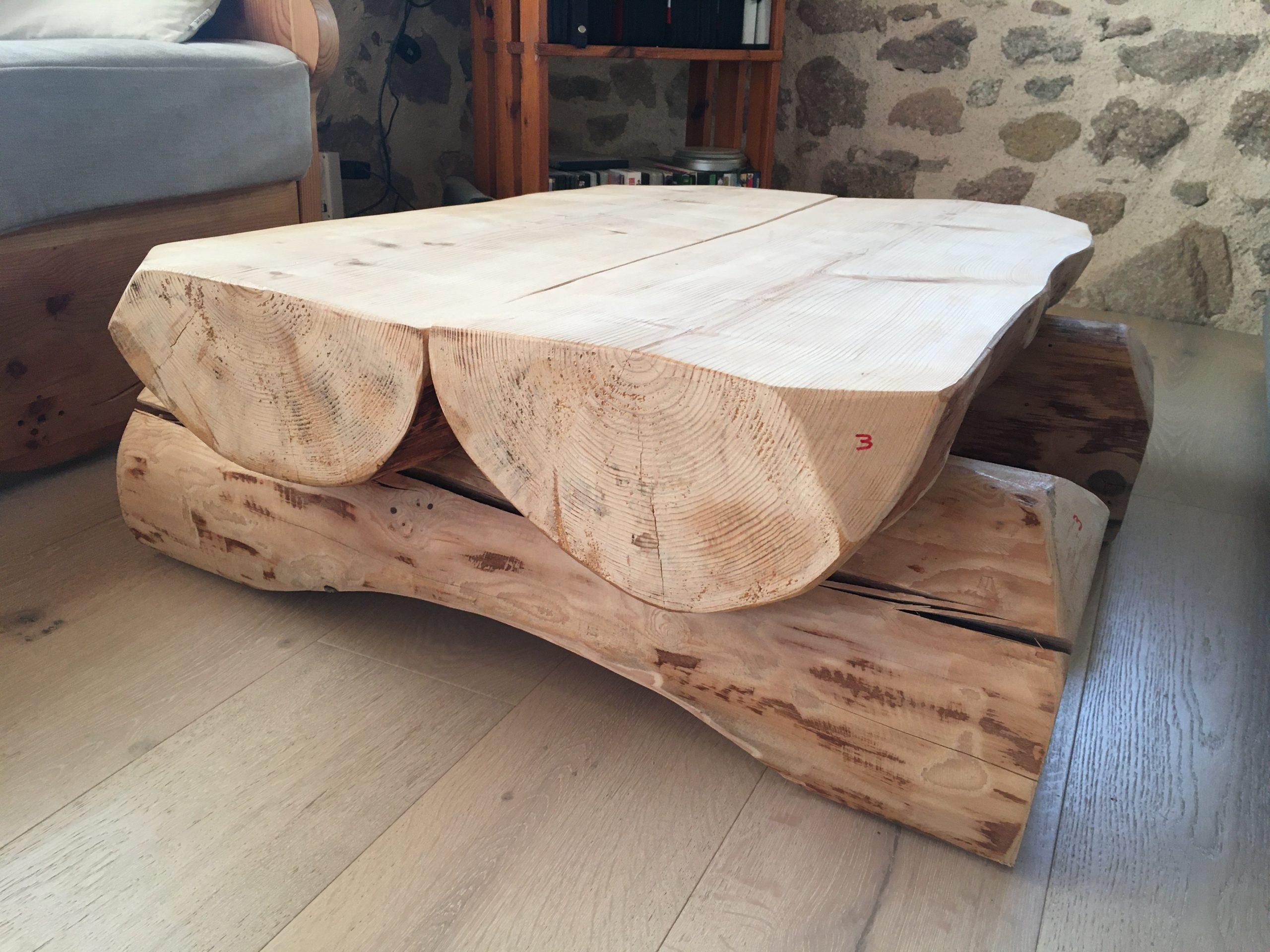 Table basse fuste